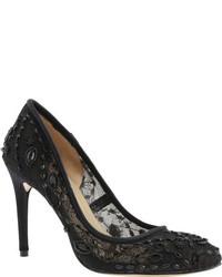 BCBGMAXAZRIA Bcbg Max Azria Bettie Gardenia Lace Meshsatin Ornated Shoes
