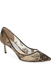Jimmy Choo Romy Lace Pointy Toe Pump