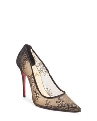 Christian Louboutin Lace Pointy Toe Pump