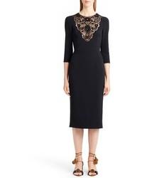 Dolce & Gabbana Dolcegabbana Lace Inset Sheath Dress