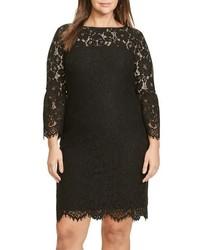 Lauren Ralph Lauren Plus Size Scalloped Lace Sheath Dress