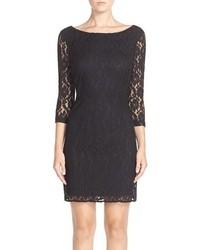 Leota Illusion Sleeve Lace Sheath Dress