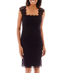 jcpenney Scarlett Cap Sleeve Lace Sheath Dress