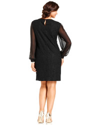 3c63c7ba174a Sl Fashions Plus Size Dress Long Sleeve Lace Sheath, $109 | Macy's ...