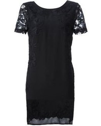 Black Lace Shift Dress