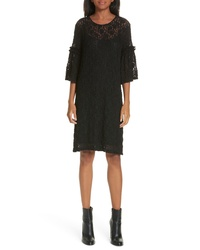 MM6 MAISON MARGIELA Bell Sleeve Stretch Lace Shift Dress