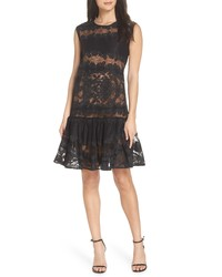 BRONX AND BANCO Bettina Ruffle Lace Dress