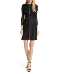 Judith & Charles Celia Lace Front Zip Dress