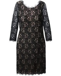 Diane von Furstenberg Floral Lace Shift Dress