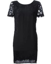 Diane von Furstenberg Lace Detail Shift Dress