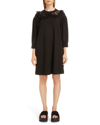 Simone Rocha Frilly Lace Collar Dress