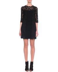 Dolce & Gabbana Half Sleeve Lace Shift Dress