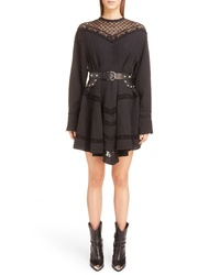 Isabel Marant Loko Lace Inset Linen Dress