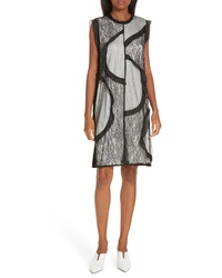 Clu Mix Media Shift Dress