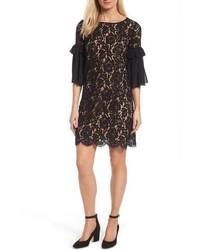 Karen Kane Petite Ruffle Sleeve Lace Shift Dress