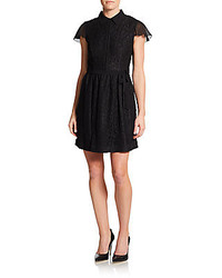 Kensie belted lace mini shirtdress medium 156849