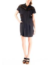 Sea New York Lace Inset Shirtdress