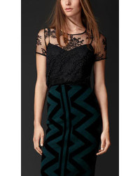 Burberry Embroidered Lace Top