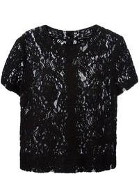 Ermanno Scervino Short Sleeve Lace Blouse