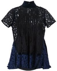 Pintuck lace blouse medium 874534