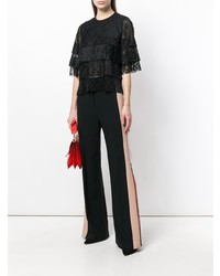 MSGM Pleated Lace T Shirt