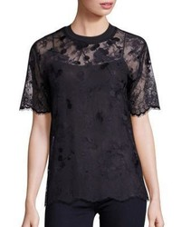 Carven Scalloped Lace Blouse