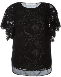 See by chloe see by chlo guipure lace blouse medium 874535