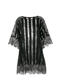 Amen Sheer Striped And Med Oversized Top
