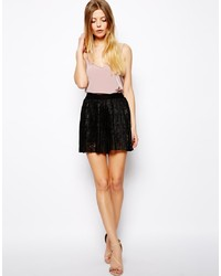 Asos Culotte Shorts In Pleated Lace