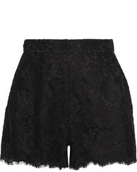 Dolce & Gabbana Lace Shorts Black