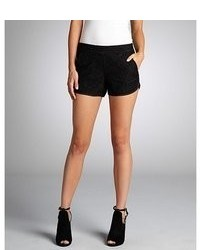 French Connection Black Lace Pocketed Gigliola Mini Shorts