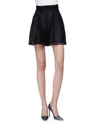 High waist circle lace shorts black medium 1159508