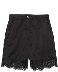 MM6 MAISON MARGIELA Lace Trimmed Satin Shorts