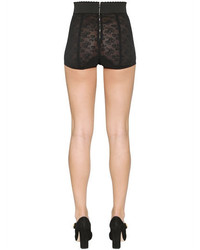 Dolce & Gabbana Lace Up Chantilly Lace Shorts