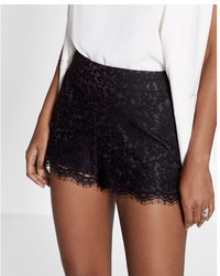 Express Mid Rise Lace Shorts