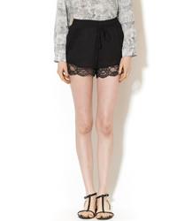 Rehab Lace Black Shorts