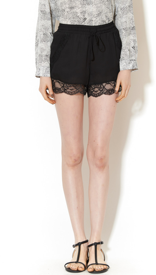 Rehab Lace Black Shorts