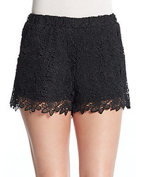 Romeo & Juliet Couture Floral Lace Shorts