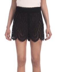 Valentino Scalloped Eyelet Lace Shorts