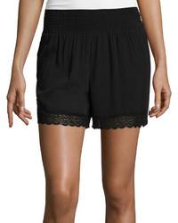 Bisou Bisou Smocked Lace Shorts