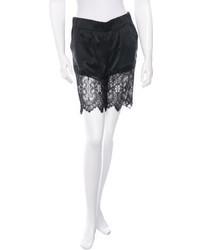 Thomas Wylde Lace Trimmed Silk Shorts