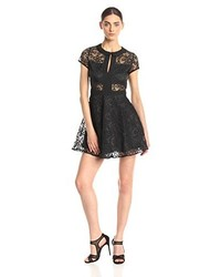 Lucca Couture Short Sleeve Lace Fit And Flare Dress