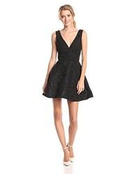 Sam Edelman Lace Plunge V Neck Fit And Flare Dress