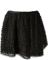 Black Lace Skater Skirt