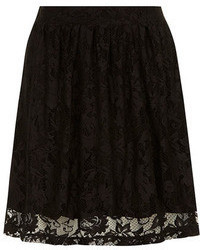Dorothy Perkins Black Lace Skater Skirt