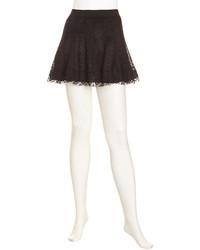 BCBGMAXAZRIA Sabrina Lace Skirt Black