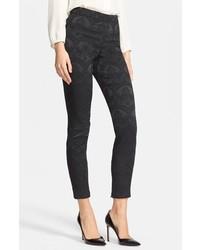 Lace Jacquard Pants Black 10 Us 44 It