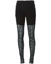 Lost And Found Panelled Lace Leggings