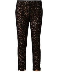 Michael Kors Michl Kors Floral Lace Cropped Trousers