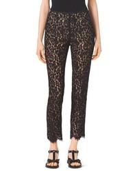 Michael Kors Michl Kors Floral Lace Cotton Pants